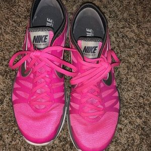 Pink nike fitsole training shoes